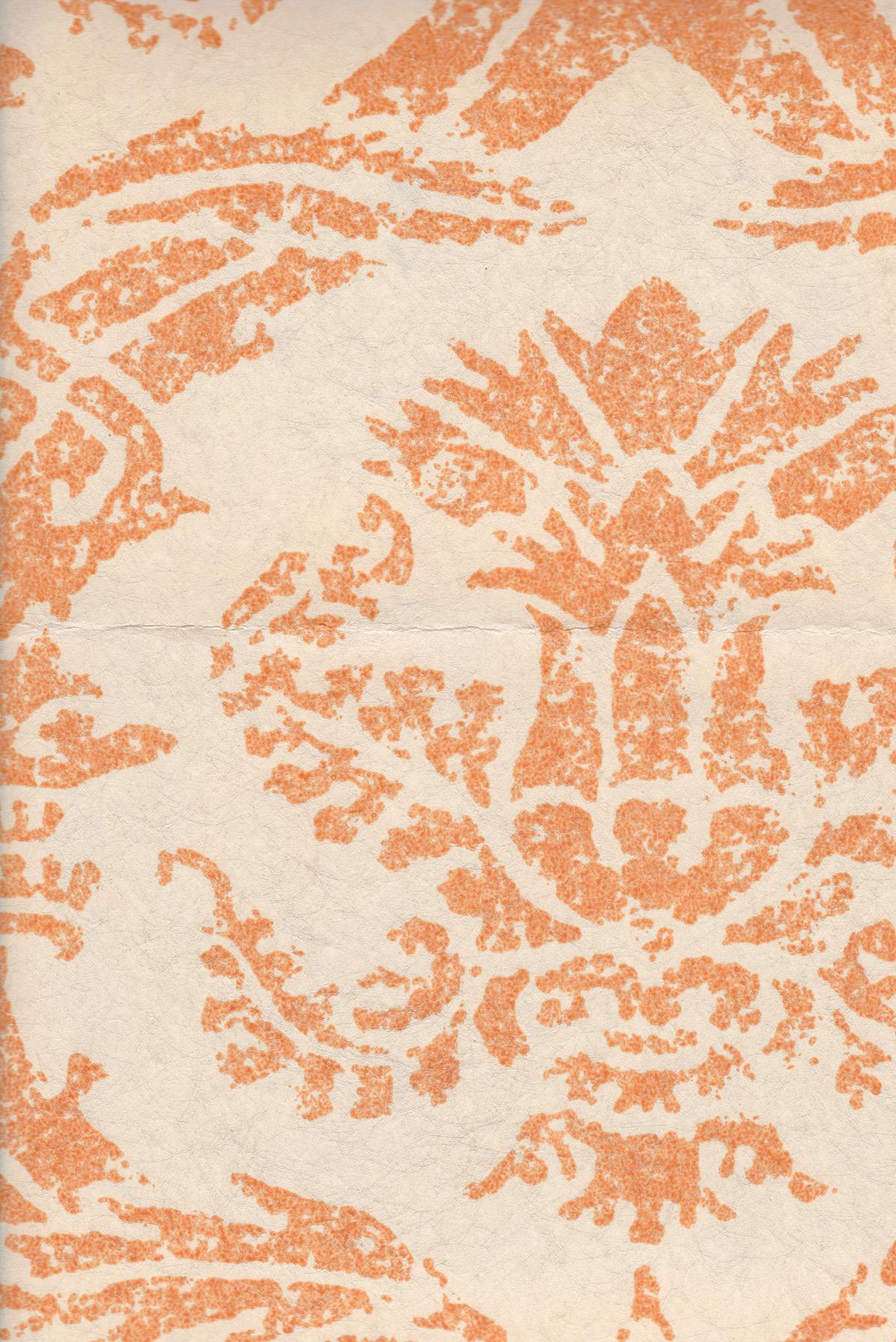 izmir | tangerine color on almond wallpaper